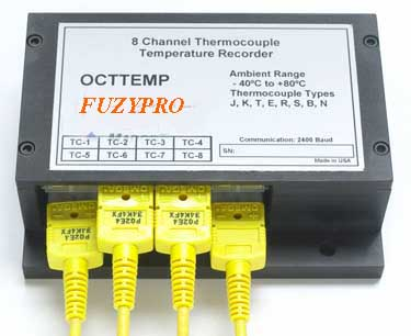 FuzyPro, OCTTEMP, 8 Channel Thermocouple Recorder
